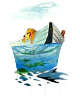 life of pi illustration by 1eyed-griffin