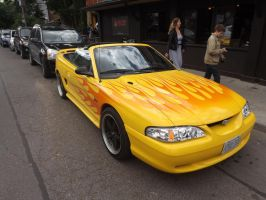 The Flaming Mustang In Kensington Market #1 by Neville6000