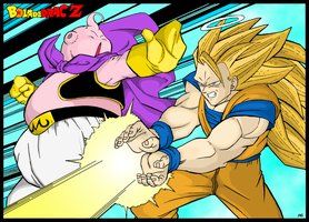 Goku VS BU Color by Sauron88