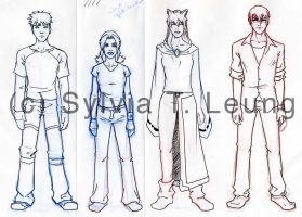 Wish3 general character design by SylviaDraws