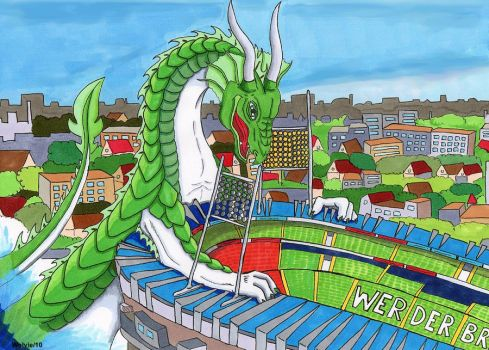 From Weser to Werder - Dragon by ChibiThekla