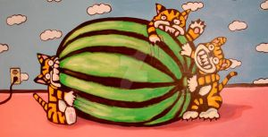 3 Tigers 1 Watermelon by MBLASTER