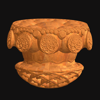 Carved Wood Vessel by Tate27kh