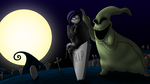 COMMISSION - Celia and Oogie Boogie by JIMENOPOLIX