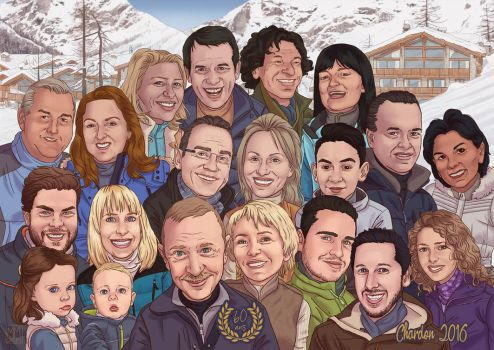 Family Caricature by Lirael42