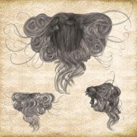 Hair Pack 03 by Just-A-Little-Knotty