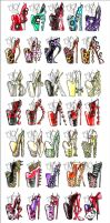 100 Heel Designs by AlirizaDesign