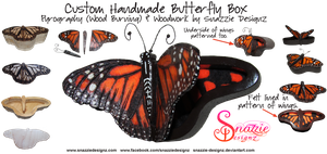 Custom Butterfly Box With Opening Wings Lid by snazzie-designz