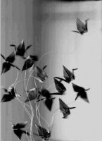Paper Cranes 2 by FlyingFish15