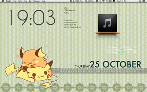 Mac Desktop - Pikachu version 2 by Sana--K