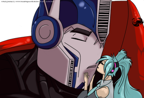 Optimus Prime X Miku Hatsune by Dulcedragon1488