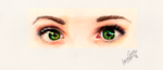 Green stare by lauragranholm