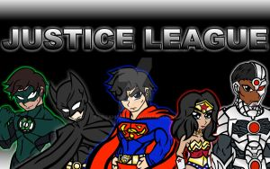 JLA just Superman GL Wonder Woman Batman Cyborg by NegaHumanX
