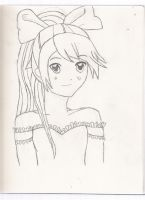 First Sketch - Uncolored by JulieaCafe