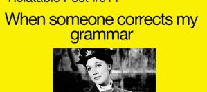 when someone corrects my grammar by PandahHero