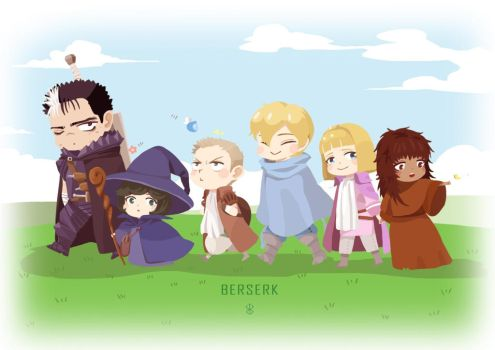 Guts and his friends by yway