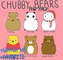 Chubby Bears Png Pack by xXSuperPopXx