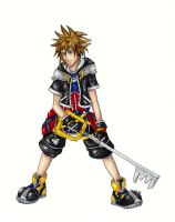 Wielder of the Keyblade-colour by Sjostrand