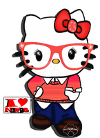 I love Nerdy Kitty by msteaduffy