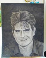 Charlie Sheen by MeiLitre
