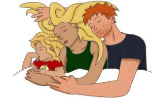 West Family Cuddle by IronicVeghead