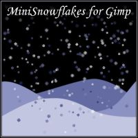 Mini-snowflakes brushes for Gimp by Lucida