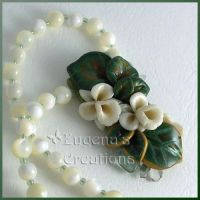Sculpted Orchids Necklace 1 by Eugena777