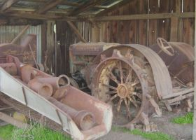 Old Tractor in its shed by jhawklyn