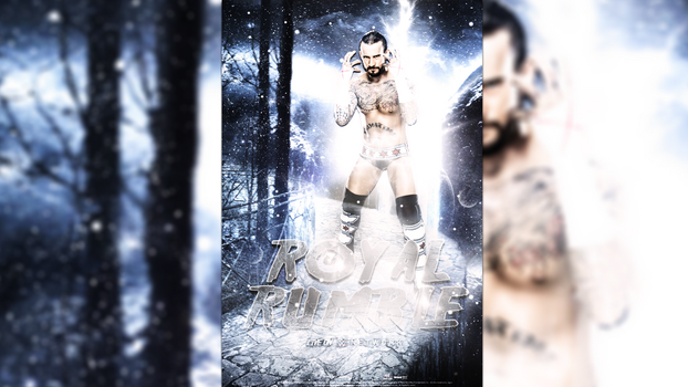 WWE Royal Rumble Poster  (WWE Network) by Momen-Aly