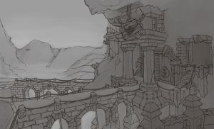 Goblin mountain fortress by jamis27
