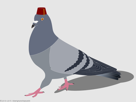 Pigeon With A Hat! by 88angryoctopus88