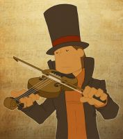 Play him off, Violin Layton by zillabean