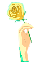 Yellow Rose by PhantomKira1412
