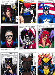 Sketch Cards 9-17 by YourHumbleDM