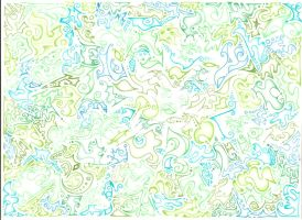 Green-blue Abstract in CP by ushiyasha