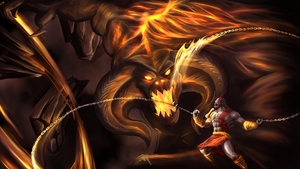 balrog vs kratos by ninjakimm