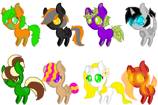 Pony Adoptables (7/8 Open) 3 POINTS EACH by Zorueevee111