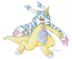 Gabumon by Cattensu