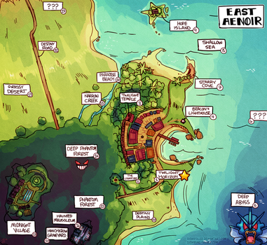 East Aenoir Map (PMD-HoT) by Sushirolled