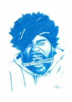 Method Man Pencil Sketch by DJMark563