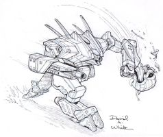 Archangel Mech Sketch by Mecha-Zone