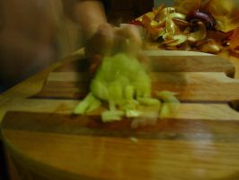 slow shutter: chopping onions by destinydai