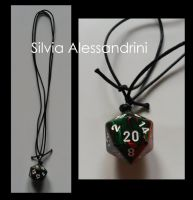 D20 necklace by SilvieTepes