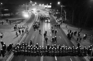 Legia vs. Police by margaretee
