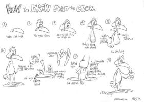 How to draw Stan the Crow by Granitoons