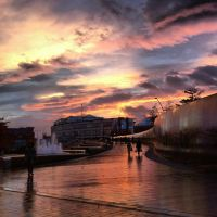 Sunset over Sheffield by Lynnzee-Chii