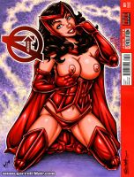 Naughty Scarlet Witch vertical sketch cover by gb2k