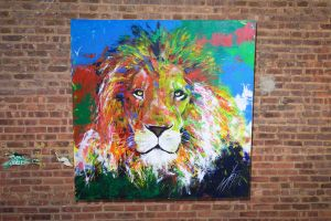 Spray paint art LION original solidity collection by colorpeoject