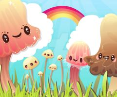 Morning Mushrooms by marywinkler