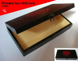 Wooden box celtic heart . SOLD by vlindertje235